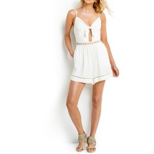 Seafolly NWT Casablanca Tie Front Playsuit